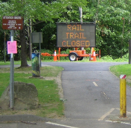 Rail Trail Closed